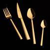 Jumbo Athena 6 Kişilik 24 Parça Titanyum Gold Tatlı Çatal Kaşık Bıçak Takımı