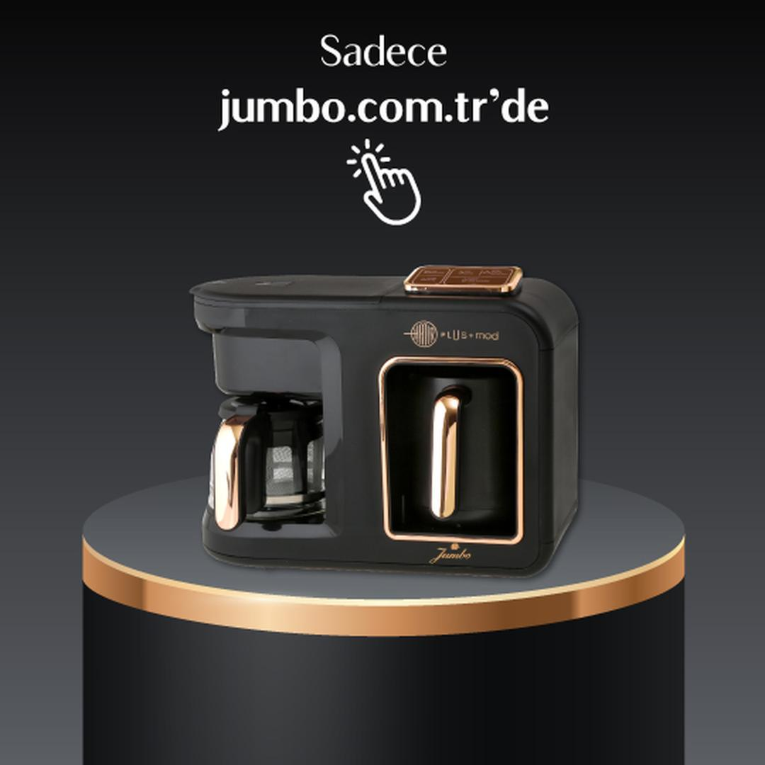 Jumbo Hatır Plus Mod 5 in 1 Black Copper Çay ve Kahve Makinesi