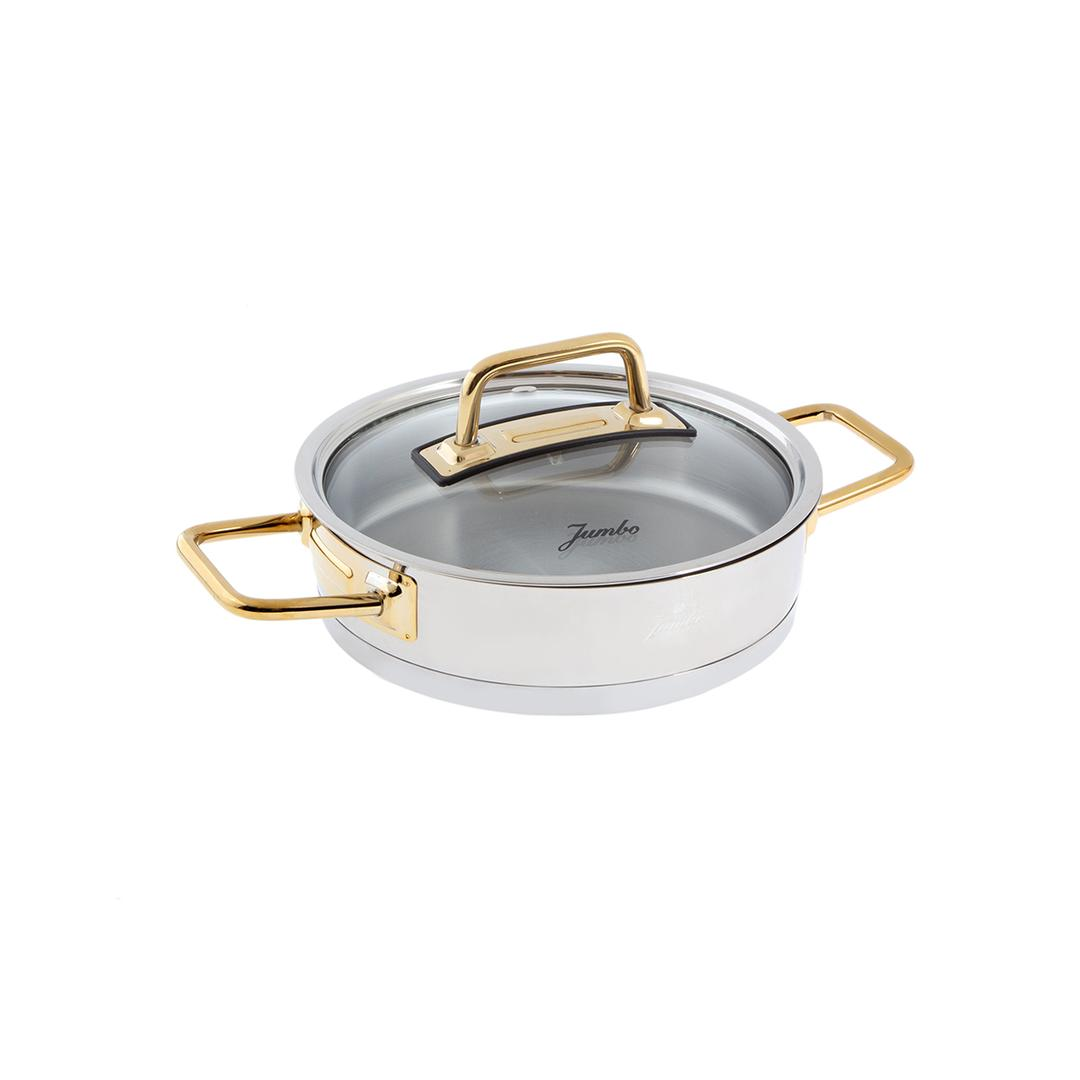 Jumbo Assos 3'lü Titanyum Gold Midi Sahan Seti