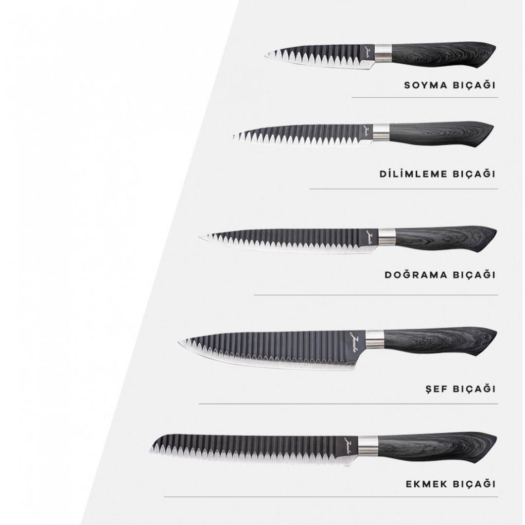 Jumbo Eva 5 Parça Bıçak Seti